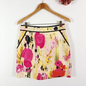 [TABITHA] Anthropologie Tweed Floral Print Skirt